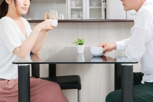 夫婦でコーヒータイム